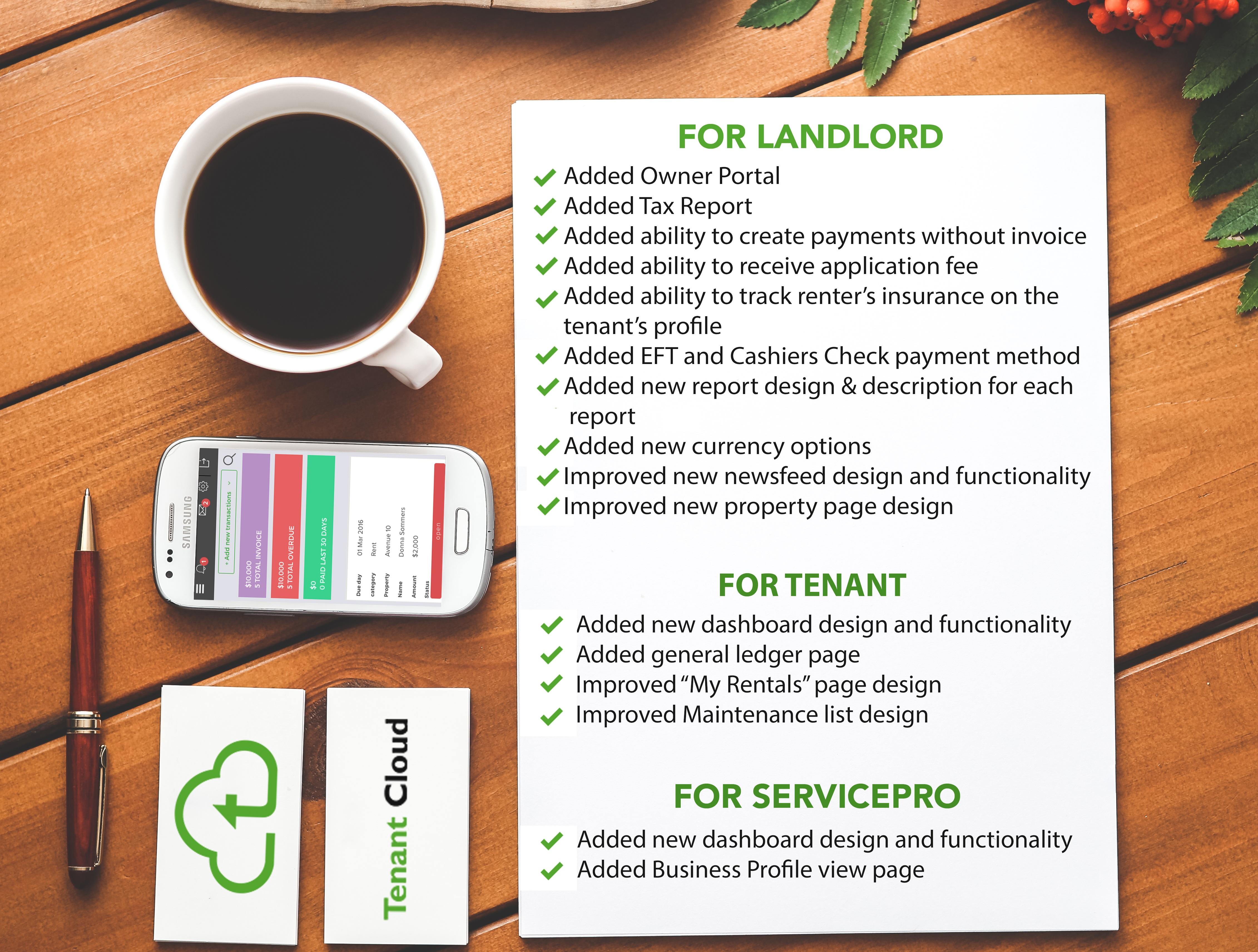 TenantCloud system updates