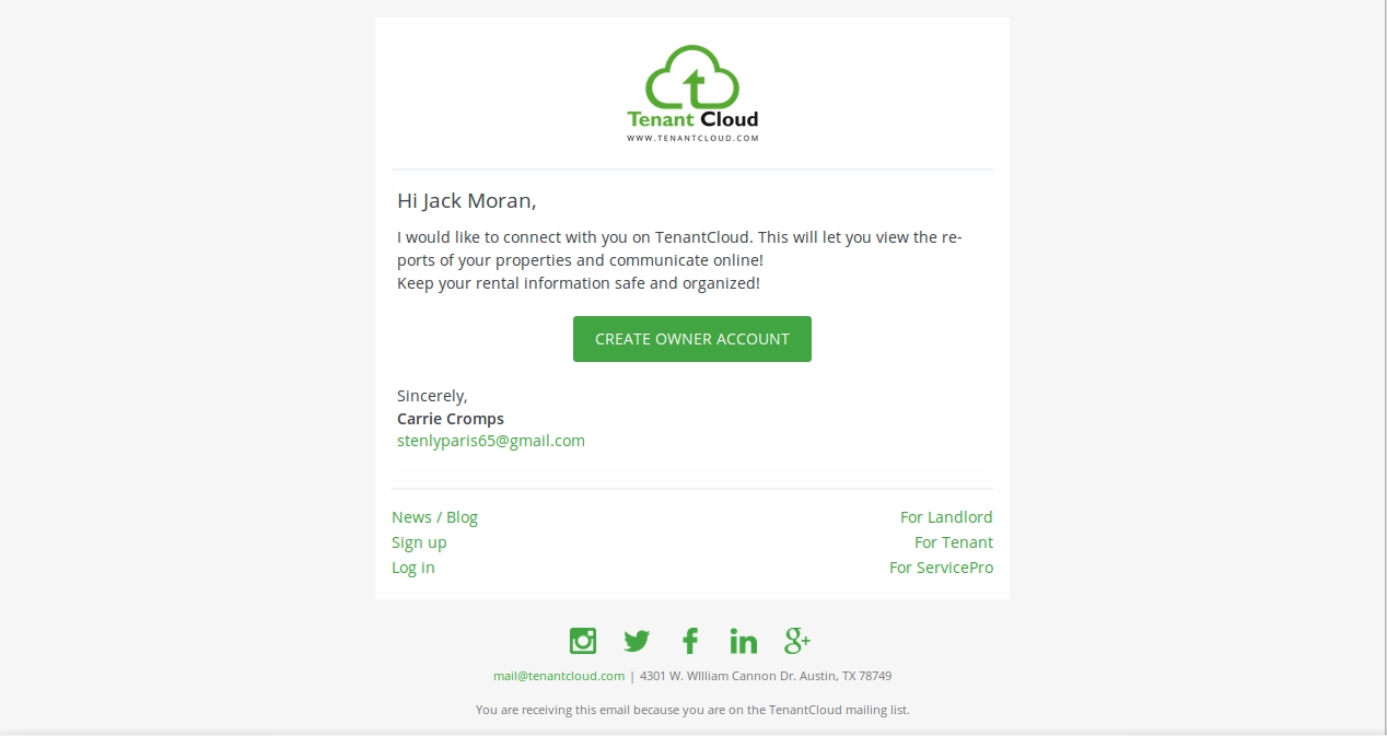 How to connect with a property manager?