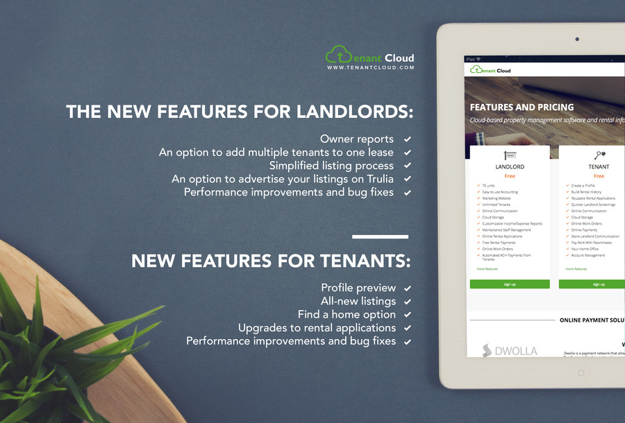 TenantCloud New Features For Landlords