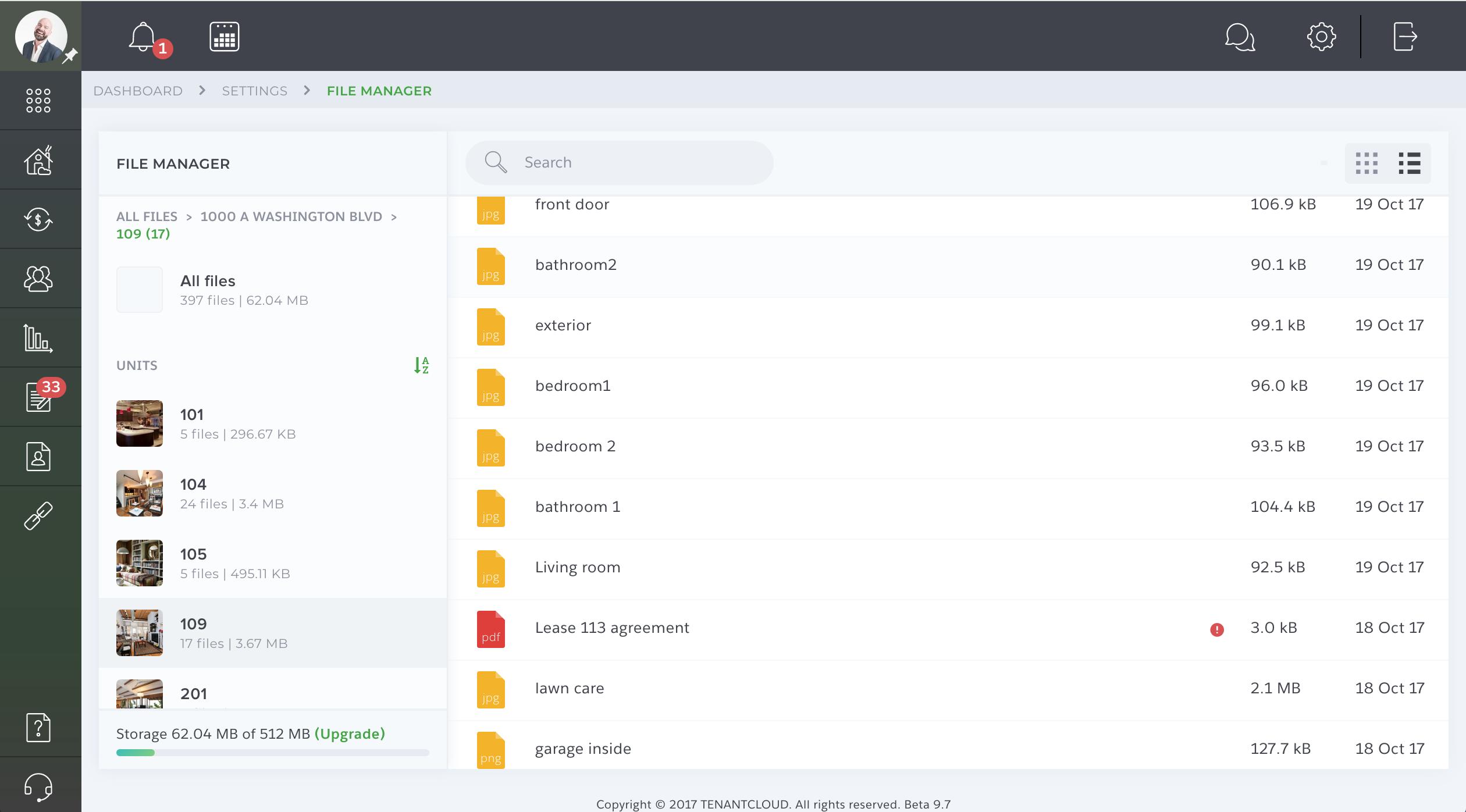 TenantCloud File Manager